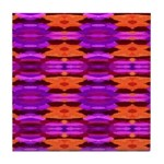 Tapestry of Purple and Orange Tile Coaster