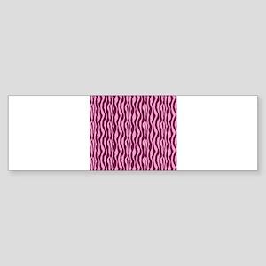 Pink Zebra Print Sticker (Bumper)