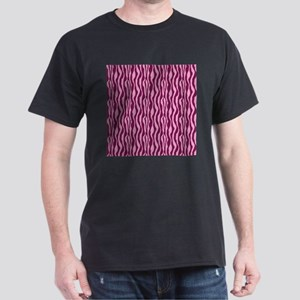 Pink Zebra Print Dark T-Shirt