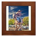 Cowboy Up! DSC_6165 Framed Tile