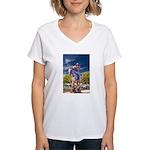 Cowboy Up! DSC_6165 Women's V-Neck T-Shirt