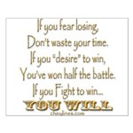 Winner Motivational Small Poster