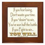 Winner Motivational Framed Tile