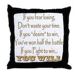 Winner Motivational Throw Pillow