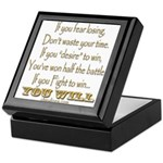 Winner Motivational Keepsake Box