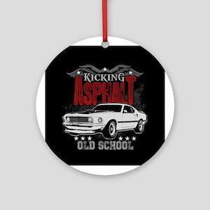 Kicking Asphalt - Mustang Ornament (Round)