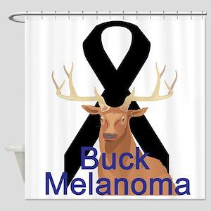 buck-melanoma Shower Curtain