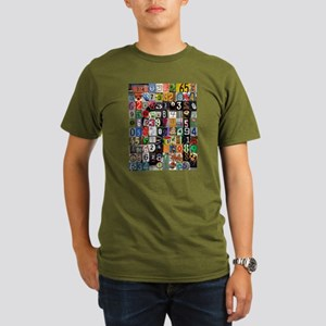 Places of Pi Organic Men's T-Shirt (dark)