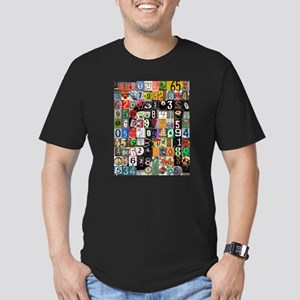 Places of Pi Men's Fitted T-Shirt (dark)