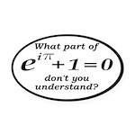 Don't Understand Euler's Equation Oval Car Magnet