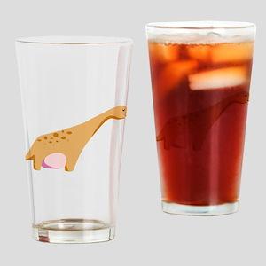 Brontosaurus Dinosaur Drinking Glass