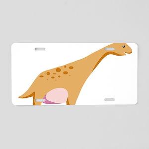 Brontosaurus Dinosaur Aluminum License Plate
