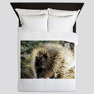 Prickly Subject Queen Duvet