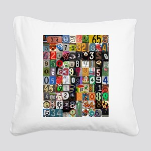 Places of Pi Square Canvas Pillow