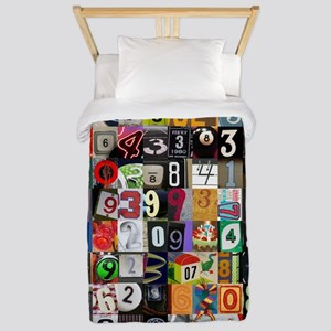 Places of Pi Twin Duvet