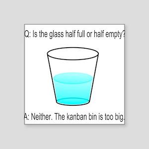 "Kanban Water Glass Square Sticker 3"" x 3"""