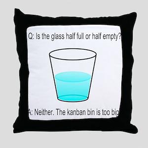 Kanban Water Glass Throw Pillow