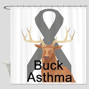 buck-asthma Shower Curtain