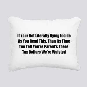 Bad Grammar Rectangular Canvas Pillow