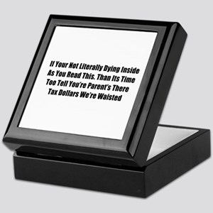 Bad Grammar Keepsake Box