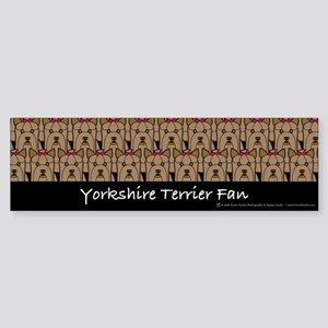 Yorkshire Terrier Fan Bumper Sticker