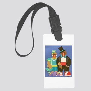 Dressed for Thanksgiving Large Luggage Tag