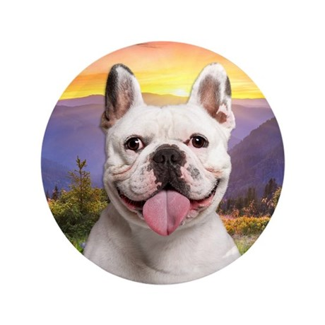 "French Bulldog Meadow 3.5"" Button (100 pack)"