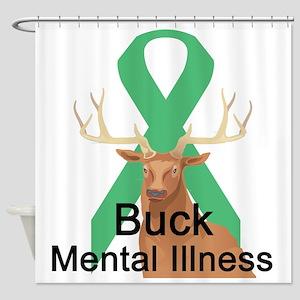 3-buck-mental-illness Shower Curtain