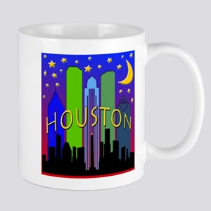 Houston Skyline nightlife Mug