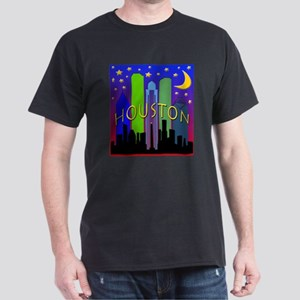 Houston Skyline nightlife Dark T-Shirt