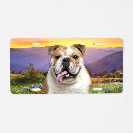 Bulldog Meadow Aluminum License Plate