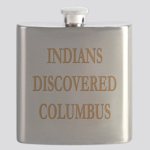 Indians Discovered Columbus Flask