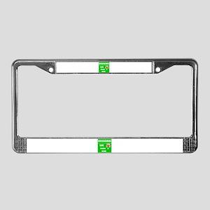 UK Dogging License Plate Frame