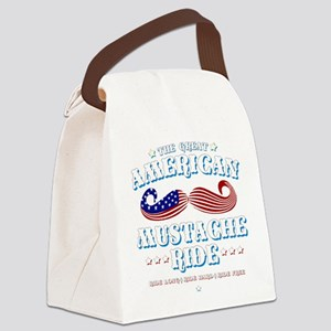 The Great American Mustache Ride Canvas Lunch Bag