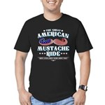 The Great American Mustache Ride Men's Fitted T-Sh