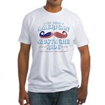 The Great American Mustache Ride Fitted T-Shirt