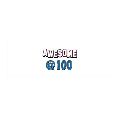Awesome at 100 36x11 Wall Decal