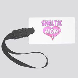 Sheltie Mom Large Luggage Tag