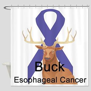 buck-esophageal-cancer Shower Curtain