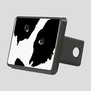 Border Collie Watching Ewe Rectangular Hitch Cover