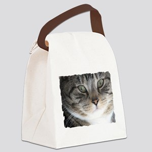 Cat Close-up Canvas Lunch Bag