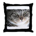 Cat Close-up Throw Pillow
