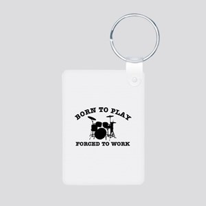 Cool Drums gift items Aluminum Photo Keychain