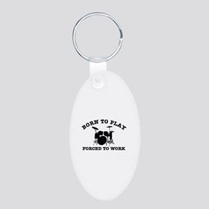 Cool Drums gift items Aluminum Oval Keychain