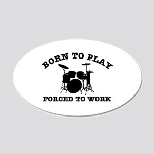 Cool Drums gift items 20x12 Oval Wall Decal