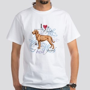 Wirehaired Vizsla White T-Shirt