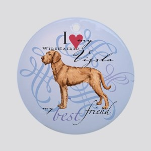 Wirehaired Vizsla Ornament (Round)