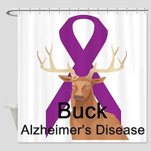 buck-alzheimers-disease Shower Curtain
