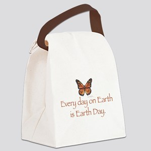 Earth Day butterfly Canvas Lunch Bag