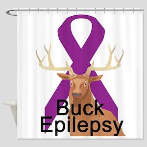 3-buck-epilepsy Shower Curtain